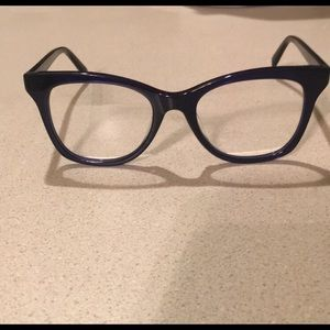 Warby Parker hallie glasses in lapis crystal
